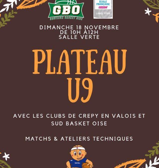 Plateau U9 le 18 novembre